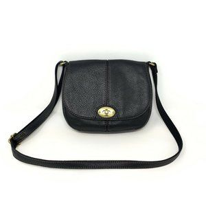 Fossil Pebbled Leather Carson Flap Crossbody Bag